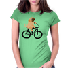 Awesome Funny Pug Puppy Dog Riding Bicycle Womens Fitted T-Shirt