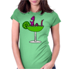 Awesome Funny Purple Loch Nes Monster in Margarita Womens Fitted T-Shirt