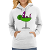Awesome Funny Purple Loch Nes Monster in Margarita Womens Hoodie