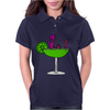 Awesome Funny Purple Loch Nes Monster in Margarita Womens Polo