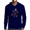 Awesome Funny Purple Turtle with Stars and Moon Art Mens Hoodie