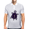 Awesome Funny Purple Turtle with Stars and Moon Art Mens Polo