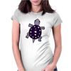 Awesome Funny Purple Turtle with Stars and Moon Art Womens Fitted T-Shirt