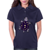 Awesome Funny Purple Turtle with Stars and Moon Art Womens Polo