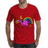 Awesome Funny Purple Unicorn and Rainbow Art Mens T-Shirt