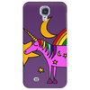 Awesome Funny Purple Unicorn and Rainbow Art Phone Case