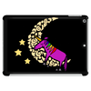 Awesome Funny Purple Unicorn Sleeping on Moon Tablet