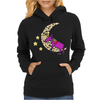 Awesome Funny Purple Unicorn Sleeping on Moon Womens Hoodie