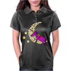 Awesome Funny Purple Unicorn Sleeping on Moon Womens Polo