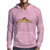 Awesome Funny Rabbit Riding Greyhound Racing Dog Mens Hoodie