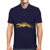 Awesome Funny Rabbit Riding Greyhound Racing Dog Mens Polo
