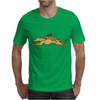 Awesome Funny Rabbit Riding Greyhound Racing Dog Mens T-Shirt
