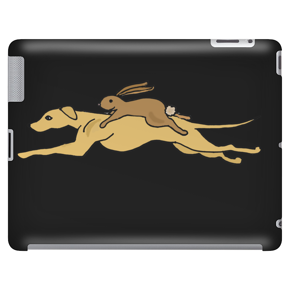 Awesome Funny Rabbit Riding Greyhound Racing Dog Tablet