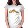 Awesome Funny Rabbit Riding Greyhound Racing Dog Womens Fitted T-Shirt