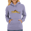 Awesome Funny Rabbit Riding Greyhound Racing Dog Womens Hoodie
