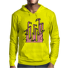 Awesome Funny Reflections of Pink Flamingos Mens Hoodie