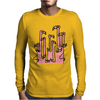 Awesome Funny Reflections of Pink Flamingos Mens Long Sleeve T-Shirt