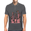 Awesome Funny Reflections of Pink Flamingos Mens Polo