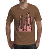 Awesome Funny Reflections of Pink Flamingos Mens T-Shirt