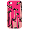 Awesome Funny Reflections of Pink Flamingos Phone Case