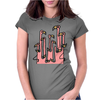 Awesome Funny Reflections of Pink Flamingos Womens Fitted T-Shirt