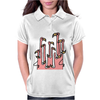 Awesome Funny Reflections of Pink Flamingos Womens Polo