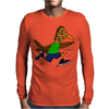 Awesome Funny Roadrunner Jogging Cartoon Mens Long Sleeve T-Shirt