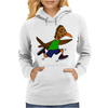 Awesome Funny Roadrunner Jogging Cartoon Womens Hoodie