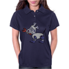 Awesome Funny Robot Dog Womens Polo
