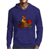 Awesome Funny Rooster Drinking Morning Coffee Mens Hoodie