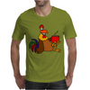Awesome Funny Rooster Drinking Morning Coffee Mens T-Shirt