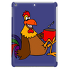 Awesome Funny Rooster Drinking Morning Coffee Tablet