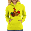 Awesome Funny Rooster Drinking Morning Coffee Womens Hoodie