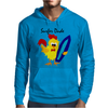 Awesome Funny Rooster Surfer Dude Cartoon Mens Hoodie