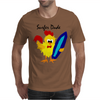 Awesome Funny Rooster Surfer Dude Cartoon Mens T-Shirt
