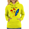 Awesome Funny Rooster Surfer Dude Cartoon Womens Hoodie