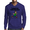 Awesome Funny Running Dude Cartoon Mens Hoodie