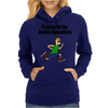 Awesome Funny Running Dude Cartoon Womens Hoodie