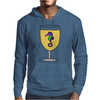 Awesome Funny Sea Horse in Wine Glass Mens Hoodie