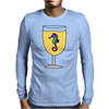 Awesome Funny Sea Horse in Wine Glass Mens Long Sleeve T-Shirt