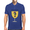 Awesome Funny Sea Horse in Wine Glass Mens Polo