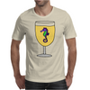 Awesome Funny Sea Horse in Wine Glass Mens T-Shirt