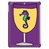 Awesome Funny Sea Horse in Wine Glass Tablet