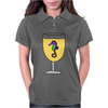 Awesome Funny Sea Horse in Wine Glass Womens Polo