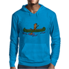 Awesome Funny Sea Otter in Green Canoe Mens Hoodie