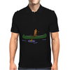 Awesome Funny Sea Otter in Green Canoe Mens Polo
