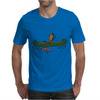 Awesome Funny Sea Otter in Green Canoe Mens T-Shirt