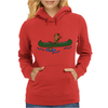 Awesome Funny Sea Otter in Green Canoe Womens Hoodie