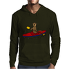 Awesome Funny Sea Otter is Kayaking Mens Hoodie