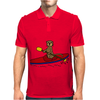 Awesome Funny Sea Otter is Kayaking Mens Polo